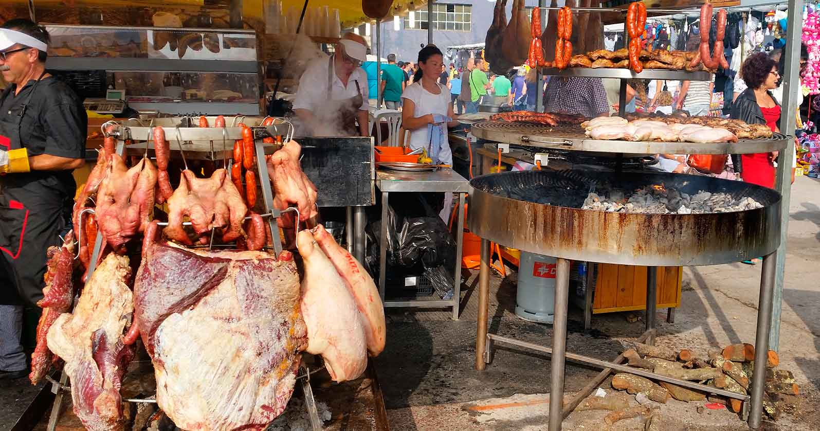 Grilled meat in Gijon