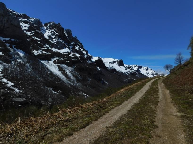 Mountains and road Asturias