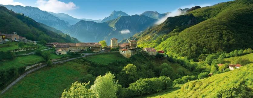 A village in mountains Asturias