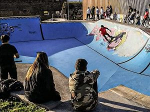 The Skatepark in Cimadevilla, the Old Town of Gijón.