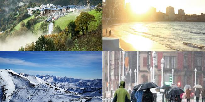 Weather in Asturias offers all kinds of scenarios: sun, rain, fog and snow.